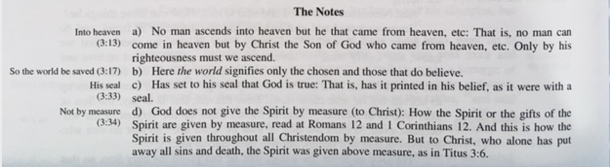 Notes on John 3, NMB